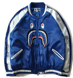 Discount clothes trading - 2017 autumn and winter new trade men's tide brand shark mouth cotton clothing baseball shirt youth casual jacket ma
