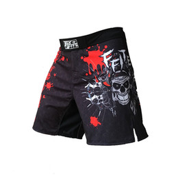Ffite Hombres Pantalones de boxeo de impresión Mma Shorts Hombres Lucha barato Short negro Kickboxing Muaythai Pants Thai Boxeo Pantalones cortos Mma Trunks en venta