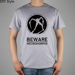 84b5e8fec BEWARE OF NECROMORPHS DEAD SPACE short sleeve T-shirt Top Lycra Cotton Men  T shirt New DIY Style