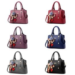 plum tote bag 2019 - NoEnName_Null High Quality Women Handbag PU Leather Ladies Satchel With Scarf Fur Ball Pendant Tote Crossbody Shoulder B