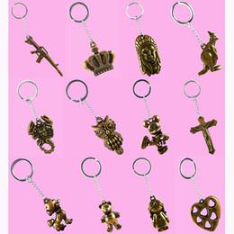 $enCountryForm.capitalKeyWord Canada - Stainless Steel Key Chains Acrylic Pendant Mix 59 Styles Cross Love Heart Skull Animal Owl Key Rings Keychain Keyring Accessories (JK018)