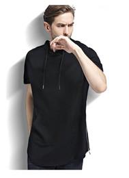 Short Sleeved Hoodies Canada - Men's fitness Hoodie Hooded Jacket thin sleeve blouse short sleeved sweater head