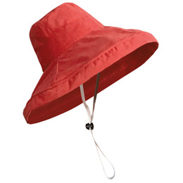 2018 New Women Japanese Korean Style Solid Color Simple Bucket Hats Sweet  Female Holiday Casual Fashion Sunshade Fisherman Hat b27f2c9b9cd7