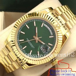 Face Watch Men Digital Australia - 9 Color Luxury Watch Men Automatic 41MM DAY DATE Green Face Mechanics Men's Watches Original 18K Gold Stainless Steel datejust Luminous