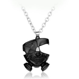 Punk Mask Necklaces Japanese Anime Black Gas Mask Cosplay Pendant For Women And Men Fans Pendants