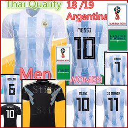 d6e252794 2018 World Cup Argentina MESSI Soccer Jersey 18 19 Thai Quality Argentina  home Men WOMEN football shirt AGUERO  9 football uniforms