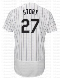 Chinese  27 Trevor Story Baseball Jerseys Embroidery Logos 100% Stitched Cool base jersey wholesale Cheap Sale manufacturers
