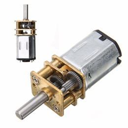 gears for dc motors NZ - New Arrival DC 6V 200RPM Mini Metal Gear Motor with Gearwheel Model:N20 3mm Shaft Diameter For Power Tool