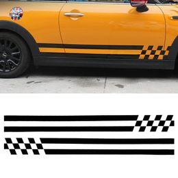 $enCountryForm.capitalKeyWord NZ - Fashion Car Body Stickers Side Skirt Door Decals for Mini One Cooper Clubman F56 F55 Personalized Decoration Line