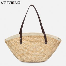 $enCountryForm.capitalKeyWord NZ - VRTREND Women Woven Rattan Straw Bag Bali Bohemian Beach Circle Handbag Summer Handmade Knitted Messenger Bags Shoulder Bag