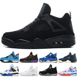 94ade565514e7f 4 4s Travis Scotts Cactus Jack Mens Basketball Shoes Raptors Kaws Eminem  Pure Money Dunk From Above men sports sneakers designer trainers