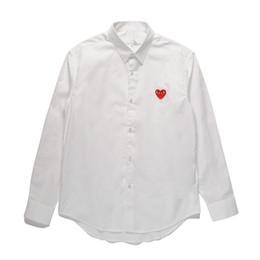 Camisas de diseñador para hombre JUEGO COMES JUGUETE Corazón japonés Emoji  DES GARCONS Ropa de manga larga Hombre Mujer Algodón Blanco Cardigan rojo  ... 88c99a8be86f0