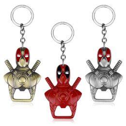 $enCountryForm.capitalKeyWord NZ - Trendy Alloy men red Deadpool KeyChain two uses Dual purpose Deadpool Opener KeyChain Deadpool Opener Key chain Ring Pendant 2018 y104