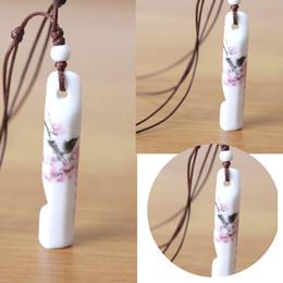 $enCountryForm.capitalKeyWord NZ - 1Pcs Hot Whistle Necklace Creative Necklace Whistle New Handmade Ceramic
