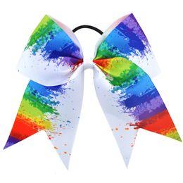 $enCountryForm.capitalKeyWord UK - Multi-Pattern 7Inch Colored Bow Elastic Hair Band Glitter Grosgrain Ribbon Headwear for Girl Ponytail Hair Accessories