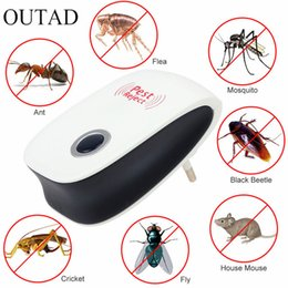 Wholesale Eu Us Plug Electronic Cat ultrasuoni Anti Mosquito Insect Pest Controler Mouse Blatta Repeller parassiti Enhanced versione