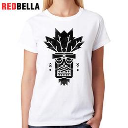 Discount animation figures - Women's Tee Redbella Tattoo T-shirt Retro Game Femme Animation Figure Parody Cool Shirt Woman Funny Printing Cotton