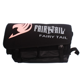 Chinese  wholesale anime Fairy Tail logo backpacks black large capacity men ourdoor travel rucksack Backpack single shoulder bag manufacturers