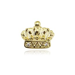 Teeth Fangs UK - HipHop Gold Single Teeth Grillz Rhinestone Crown Removable One Top Fang Tooth Caps Grillz Dental Halloween Gifts