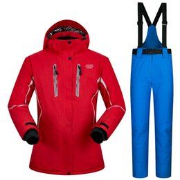 Snow Ski pantS online shopping - ski suit female pure color snow skiing jackets women thicken warm waterproof women s ski jackets and pants clothing sets