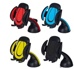 Wholesale Car phone holder Phone Car Mount desktop Stand degree Rotatable Windshield Dashboard mobile holder with Sucker retail package