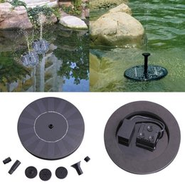 Wholesale Floating Solar Power Fountain Panel Kit Garden Water Pump Small Landscape Pool Garden Fountains V Solar Power Fountain Water Pump Black