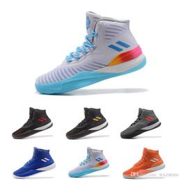 d622b9c7fd16 Size 7-11.5 New 2018 D Rose Shoes 7 casual Men White Rose shoes Hot Sale  Derrick 6 7 VII Florist City outdoor walking