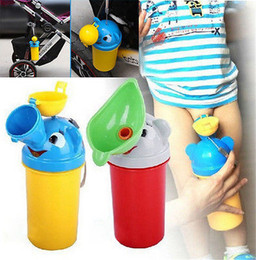 urinal boy NZ - Portable Convenient Travel Cute Baby Urinal Kids Potty Girl Boy Car Toilet Vehicular Urinal Traveling urination