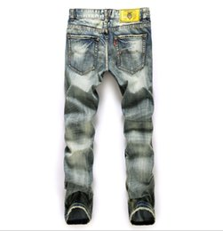 China Men Motorcycle Biker Denim Jeans Ripped Distressed Holes Casual Fashion Pants Straight Streetwear Style Jeans 28-40 cheap zipper capris suppliers