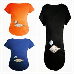 603fed76011eb Summer Pregnant Maternity T Shirts Short Sleeve Casual Pregnancy Clothes  Funny For Pregnant Women Marternity Clothing Tees Tops