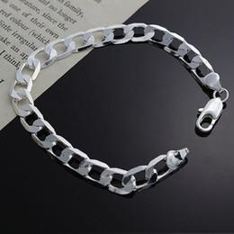 8mm 925 Silver Chains NZ - Fine 925 Sterling Silver Bracelet for Women Men,Fashion 925 Silver 8MM Chain 8inch Bracelet Italy 2018 New Arrival Xmas Best Gfit AH246