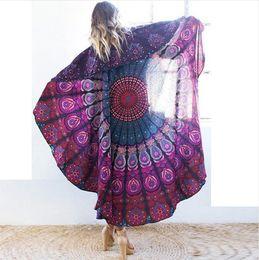bohemian home decor 2019 - Indian Round Mandala beach towel fashional Tapestry home furnishingl Wall Hanging Bohemian Ethnic Throw Beauty Wall Deco