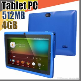 "quad android tablet Australia - E Allwinner A33 Quad Core Q88 Tablet PC Dual Camera 7"" 7 inch capacitive screen Android 4.4 512MB 4GB Wifi Google play store flash C-7PB"