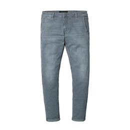 Chinese  New Spring Spray Painting Striped Jeans Men Skinny Thin Fashion Slim Fit Denim Trousers Hot Fashion manufacturers