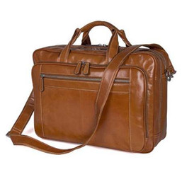 $enCountryForm.capitalKeyWord Canada - Augus Large Capacity Business Briefcase Durable And Fashional Laptop Bag Classic Handbag For Business Men Leather Bag 7380B