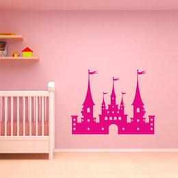 Sweets Wall Stickers Australia - Knights Castle Princess Decoration Wall Stickers for Nursery Kids Room Girls Vinyl Decals Sweet Living Room Murals K585