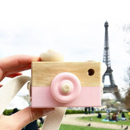 Toy Camera Photography Australia - 2018 New Wooden Camera Kids Toy Baby Gift Children Wood Neck Decor Room Photography -17