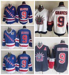 Vintage New York Rangers Hockey Jerseys 9 Adam Graves 75th Anniversary Blue  Vintage CCM Mens Stitched Jerseys A Patch S-XXXL be18e732a