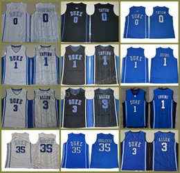 army uniforms 2019 - New Mens Duke Blue Devils Marvin Bagley III College Basketball Uniforms Stitched cheap #1 Trevon Duval University Jersey