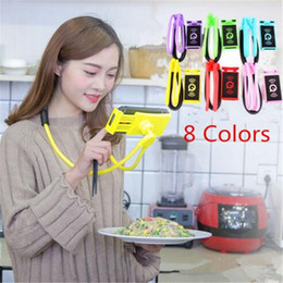 Tablet Lazy Stents Australia - Necklace Support Lazy Bracket Mobile Phone Holders Hang Neck Tablet Stand Flexible Stents Holder For iPhone x 8 7 6s plus Samsung s8 ipad