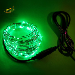 led copper wire string lights NZ - 10M 100 LED Copper wire operated led string Fairy Lights with Power supply For Wedding Party Night Club Christmas Decoration