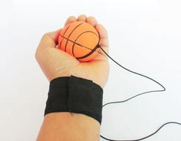 $enCountryForm.capitalKeyWord NZ - 63MM Bouncy Fluorescent Rubber Ball Wrist Band Ball Board Game Funny Elastic Ball Training Antistress Relax Random Color