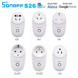 Sonoff S26 WiFi Socket inteligente US / UK / CN / AU / EU Socket Plug Inalámbrico Smart Home Switch Trabajo con Alexa Google Assistant IFTTT