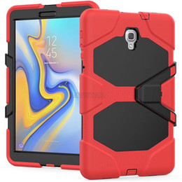 Plastic Stand For Tablets NZ - For Samsung Tab A T350 T550 Tab 4 T230 T330 Tab 3 P3200 P5200 iPad Air 2 2 3 4 Mini Silicone Plastic Kickstand Tablet Case with Stand
