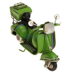 vintage cars toys 2019 - Vintage Motorcycle Model Handmade Mini Car Bar Decor Kids Gift Toy -Green cheap vintage cars toys