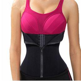 5ede81afbf8dc Bodysuit Women Slimming Zipper Waist Trainer Slimming Body Shape Belt Hot  Shaper waist Trimmer Tummy Waist Cincher Tank Corrective Shapewear