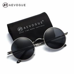 b9c655a49b AEVOGUE Polarized Sunglasses For Men Women Small Round Alloy Frame Summer  Style Unisex Sun Glasses UV400 AE0518