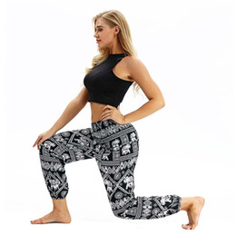 Wholesale thailand pants for sale - Group buy 2020 women Lantern Yoga Pants Fashional Sports Ethnic Wide leg Thailand Elastic Dancing Loose Fit High Quality Beach Trousers