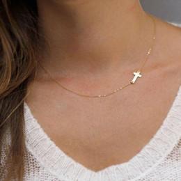 $enCountryForm.capitalKeyWord Australia - JieyueJewelry Elegant Cross Choker Necklace Small Gold Cross Jewelry For Women Lady necklace Unique Stylish Lovely Gift