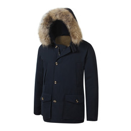 men s down arctic parka NZ - Brand New Removeable Raccoon Fur Mens Arctic Down Parka Warm JACKET thick outdoor Winter Coat